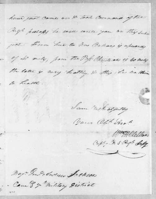 William McClellan to Andrew Jackson, July 10, 1814
