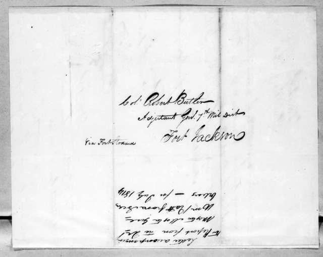 William Piatt to Robert Butler, July 14, 1814
