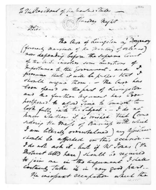 William Pinkney to James Madison. Possible Date-1811.