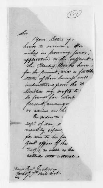 William Pratt to Andrew Jackson, September 28, 1814