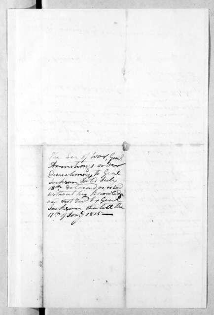 William Preston Anderson to Andrew Jackson, August 19, 1814