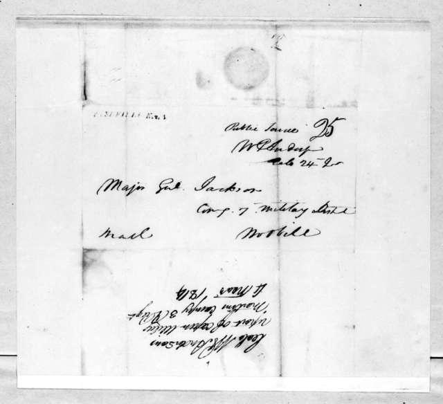William Preston Anderson to Andrew Jackson, November 4, 1814