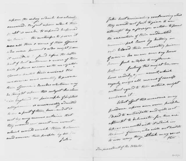 William Winder to James Madison, February 8, 1814.