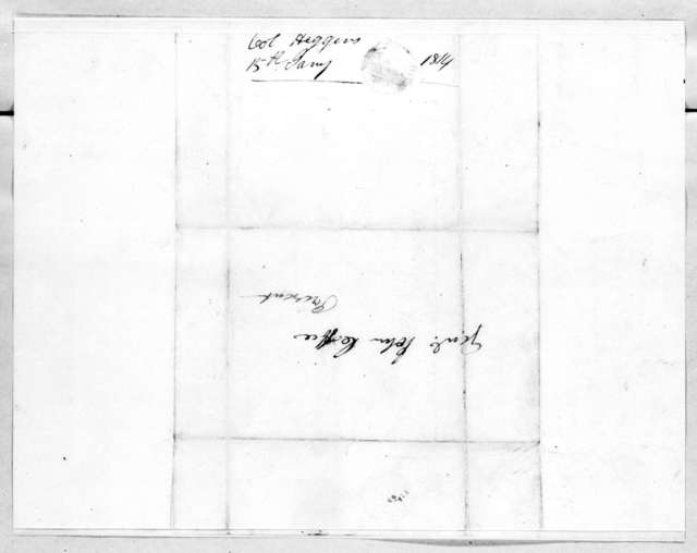 William Y. Higgins to John Coffee, January 13, 1814