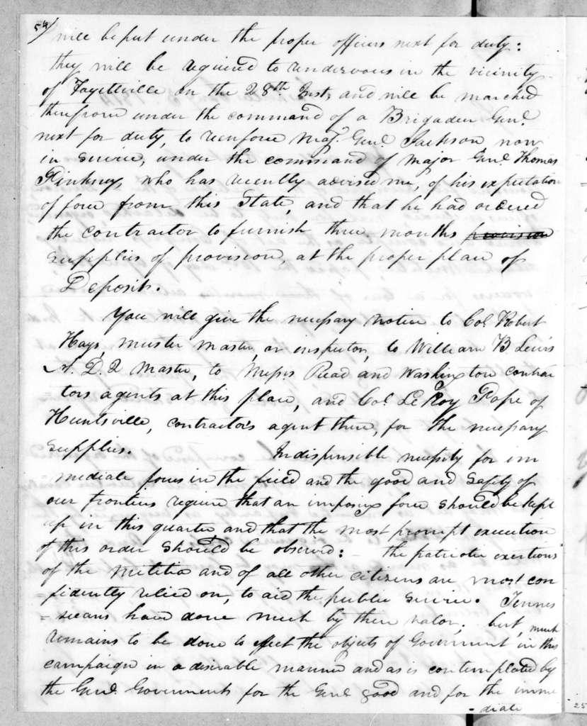 Willie Blount to Thomas Johnson, January 3, 1814