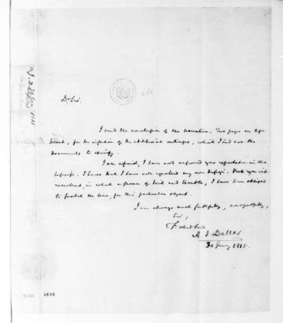 A. J. Dallas to James Madison, January 30, 1815.
