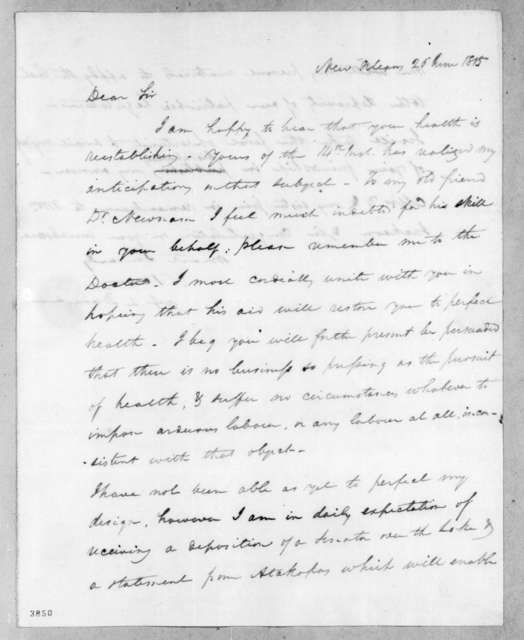 Abner Lawson Duncan to Andrew Jackson, June 26, 1815