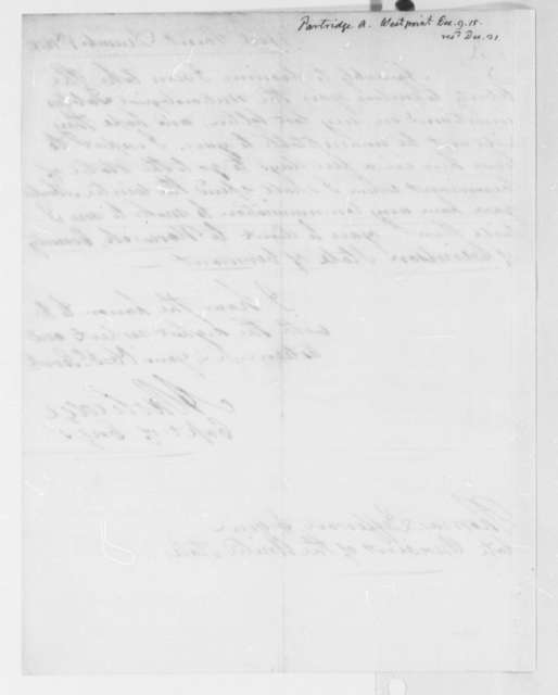 Alden Partridge to Thomas Jefferson, December 9, 1815, with Tables