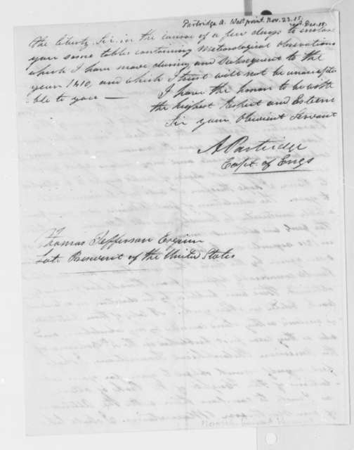Alden Partridge to Thomas Jefferson, November 23, 1815