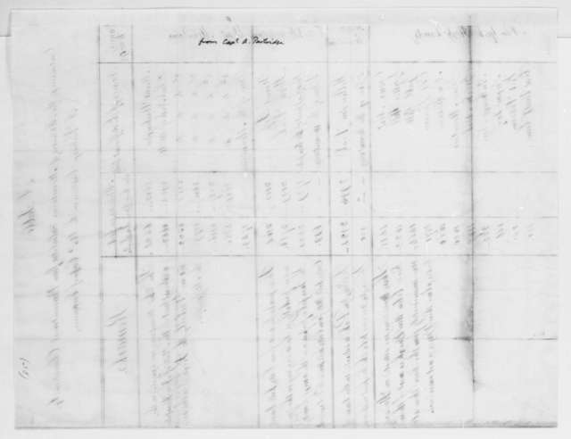 Alden Partridge to Thomas Jefferson, September 6, 1815, with Table