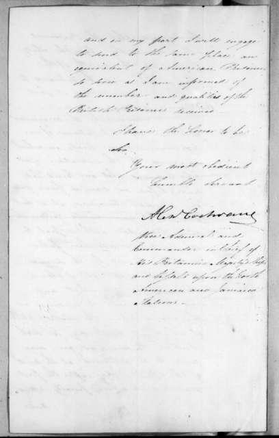 Alexander Cochrane to Andrew Jackson, February 12, 1815