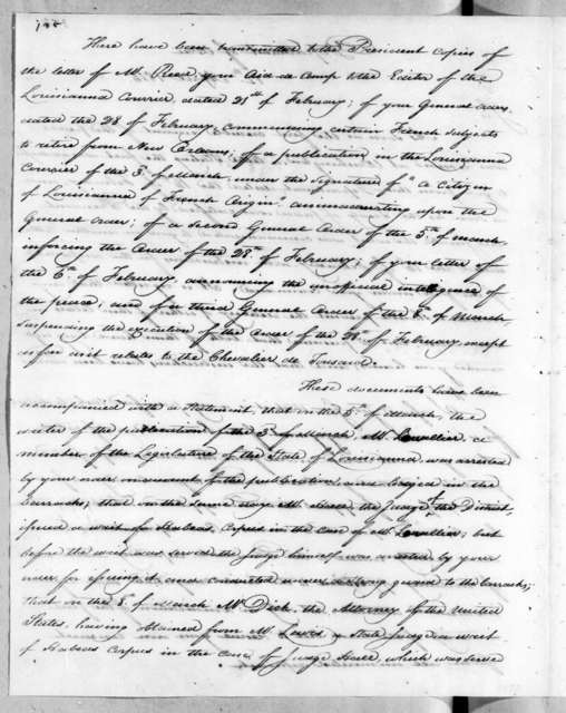 Alexander James Dallas to Andrew Jackson, April 12, 1815