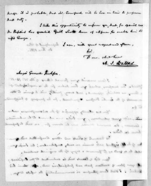 Alexander James Dallas to Andrew Jackson, June 30, 1815