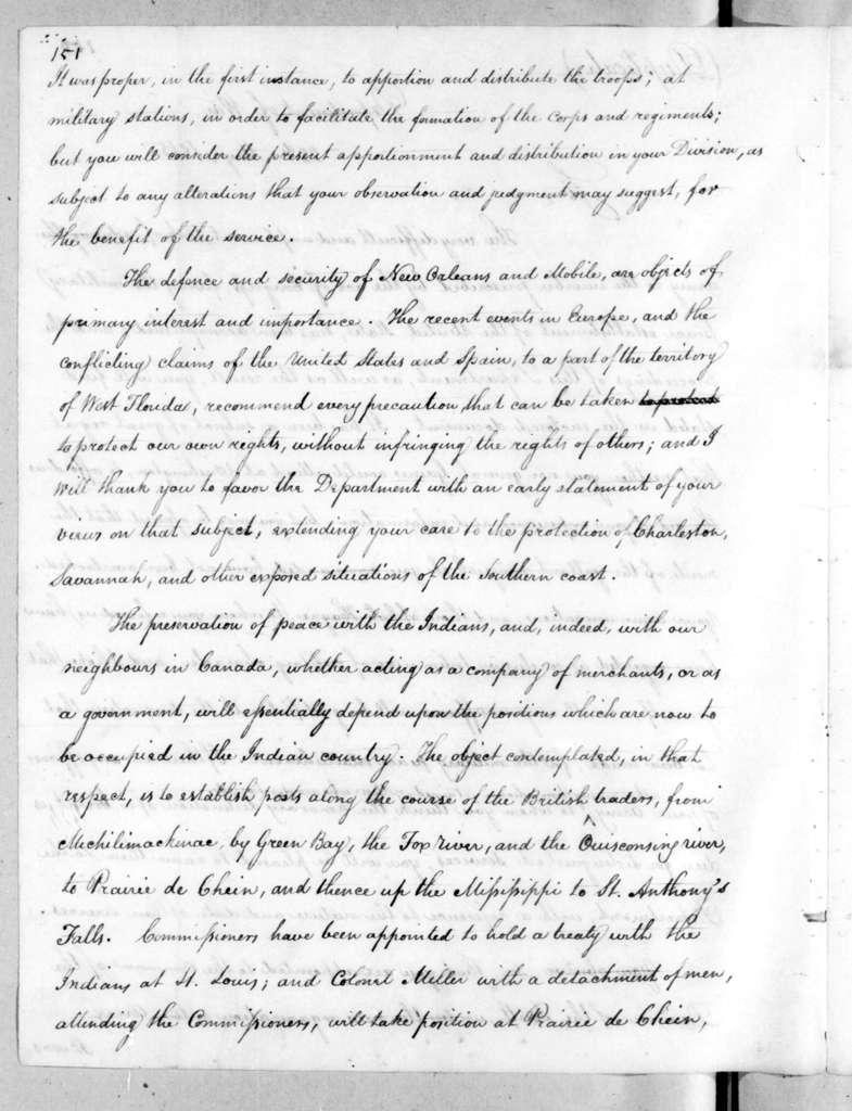 Alexander James Dallas to Andrew Jackson, May 22, 1815