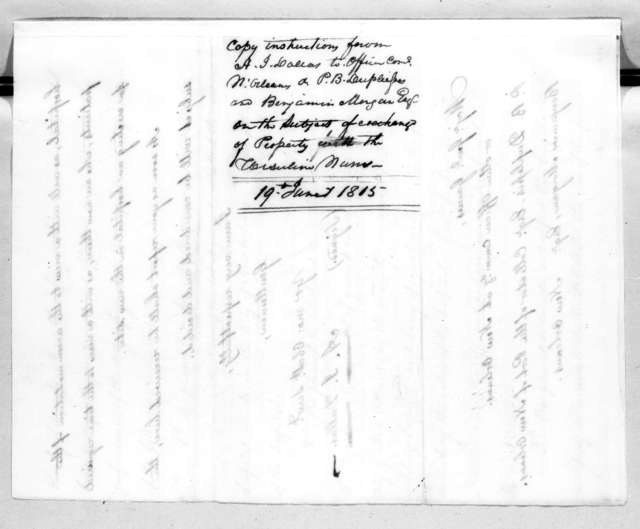 Alexander James Dallas to Edmund Pendleton Gaines, June 19, 1815