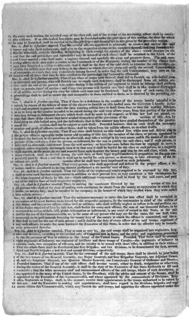 """Amendment proposed by Mr. Stanard, by way of substitute for the bill """"To raise a regular force for the defence of this Commonwealth."""" [Richmond 1815]."""