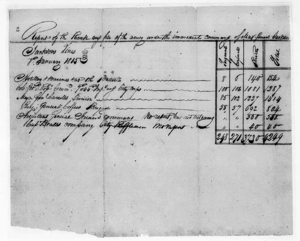 Andrew Jackson, January 8, 1815