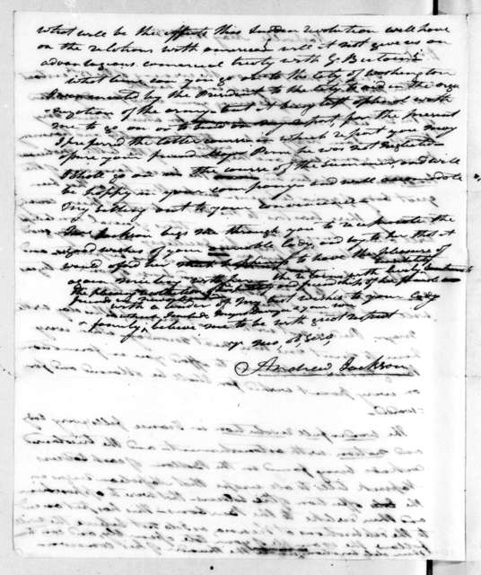 Andrew Jackson to Edward Livingston, May 17, 1815