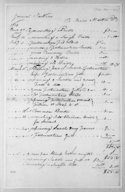 Andrew Jackson to James Martin, March 24, 1815