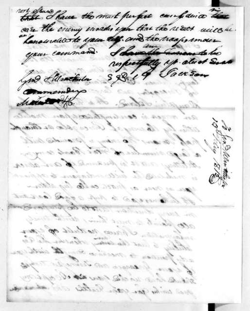 Andrew Jackson to James Winchester, February 13, 1815