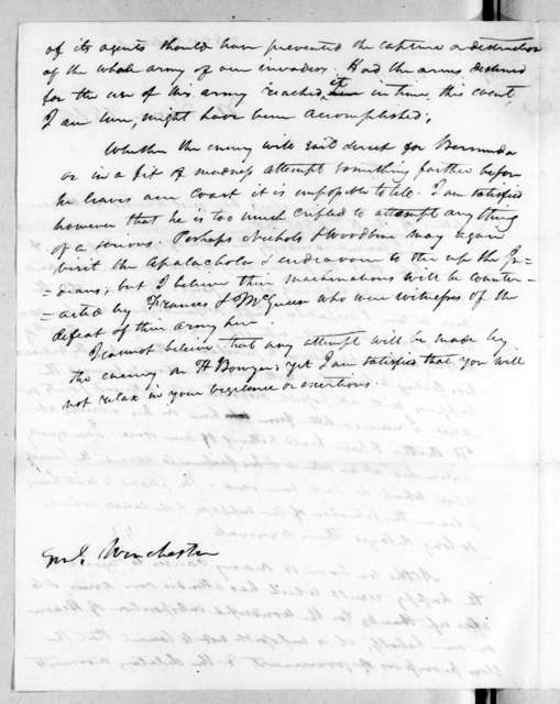Andrew Jackson to James Winchester, January 30, 1815