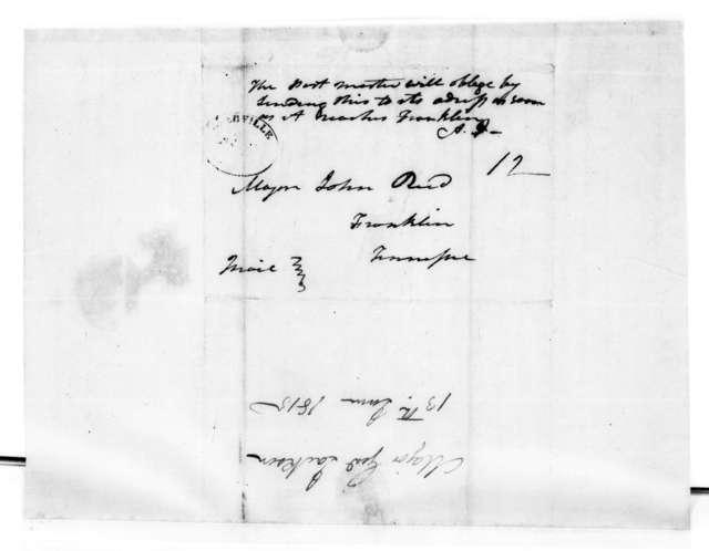 Andrew Jackson to John Reid, June 13, 1815