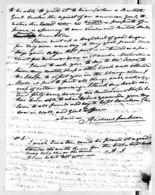 Andrew Jackson to Robert Hays, February 4, 1815