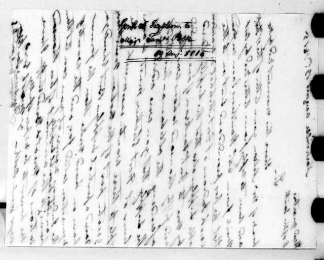 Andrew Jackson to Samuel Polk, August 18, 1815