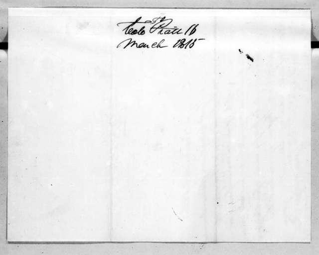 Andrew Jackson to William Piatt, March 16, 1815