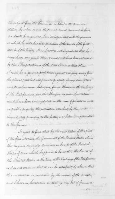 Anthony S. Baker to James Monroe, April 3, 1815.
