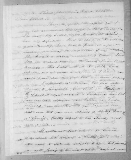Arthur Peronneau Hayne to Andrew Jackson, March 24, 1815