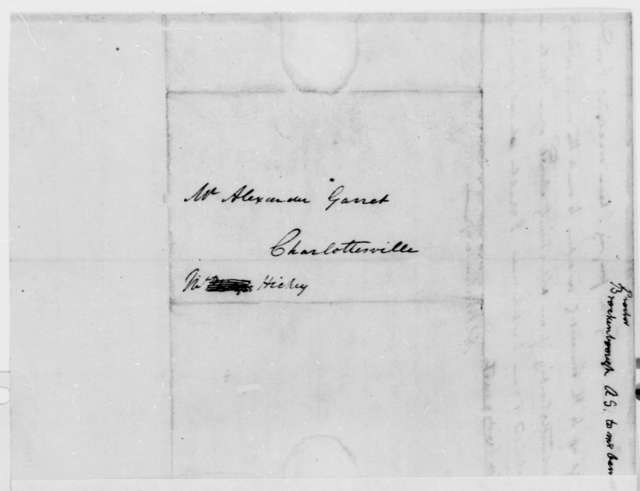 Arthur S. Brockenbrough to A. Garrett, March 18, 1815