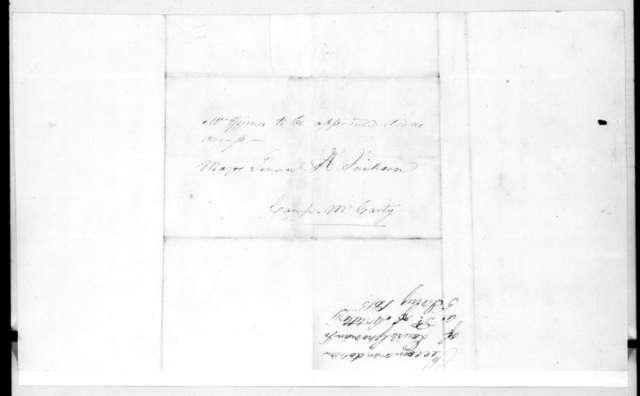Auguste Davezac and Samuel Spotts to Andrew Jackson, January 5, 1815