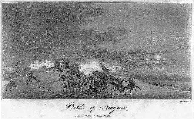 Battle of Niagara from a sketch by Major Riddle / Strickland sc.
