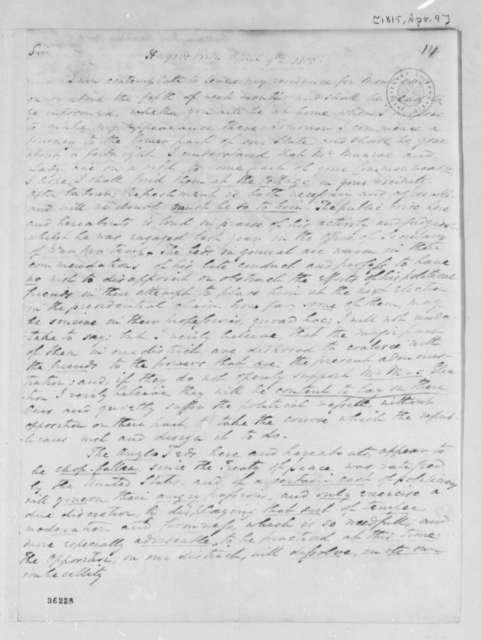 Benjamin Galloway to Thomas Jefferson, April 9, 1815