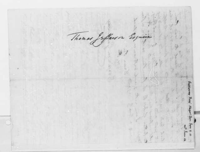 Benjamin Galloway to Thomas Jefferson, June 2, 1815
