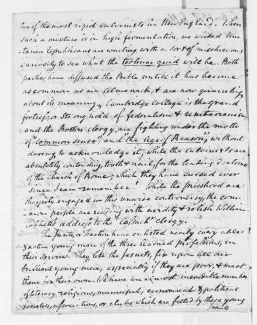 Benjamin Waterhouse to Thomas Jefferson, September 1, 1815