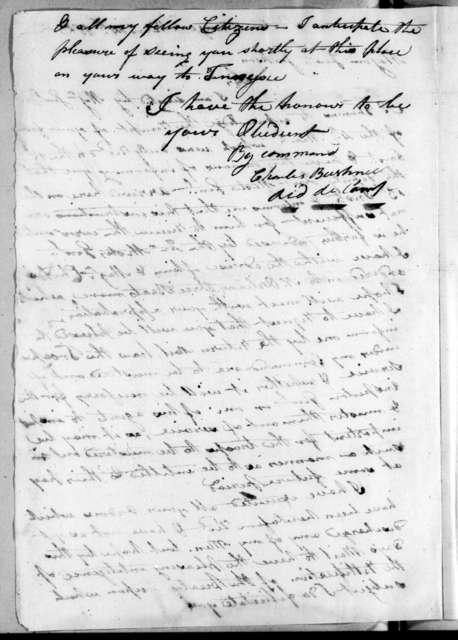 Charles Bushnell to Andrew Jackson, March 14, 1815