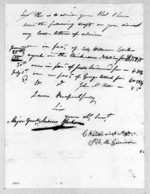 Charles Kavanaugh to Andrew Jackson, June 25, 1815
