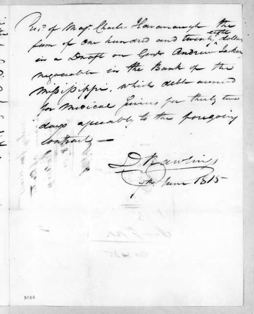 Charles Kavanaugh to Daniel Rawlings, June 7, 1815