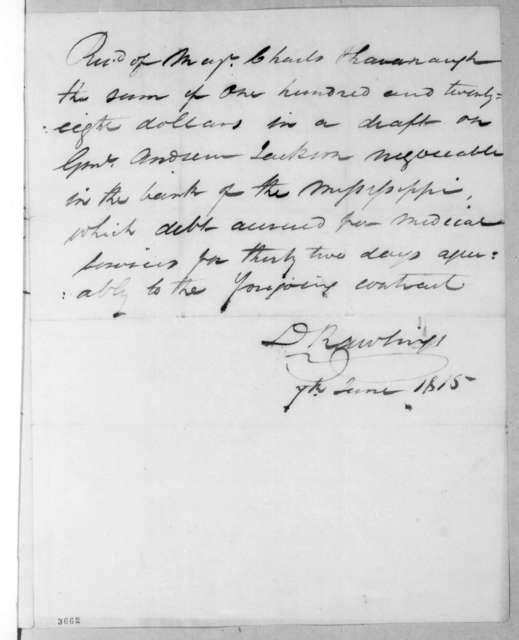 Charles Kavanaugh to Daniel Rawlings, March 29, 1815
