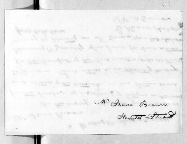 Charles Kavanaugh to Isaac Brown, June 9, 1815