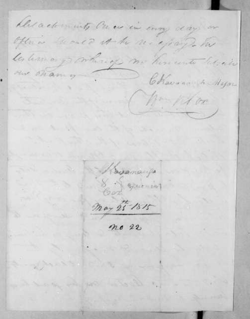 Charles Kavanaugh to William R. Cox, March 25, 1815