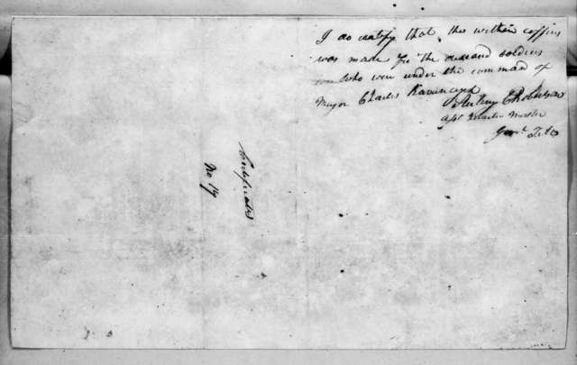 Cowles Mead and Daniel Rawlings, May 20, 1815
