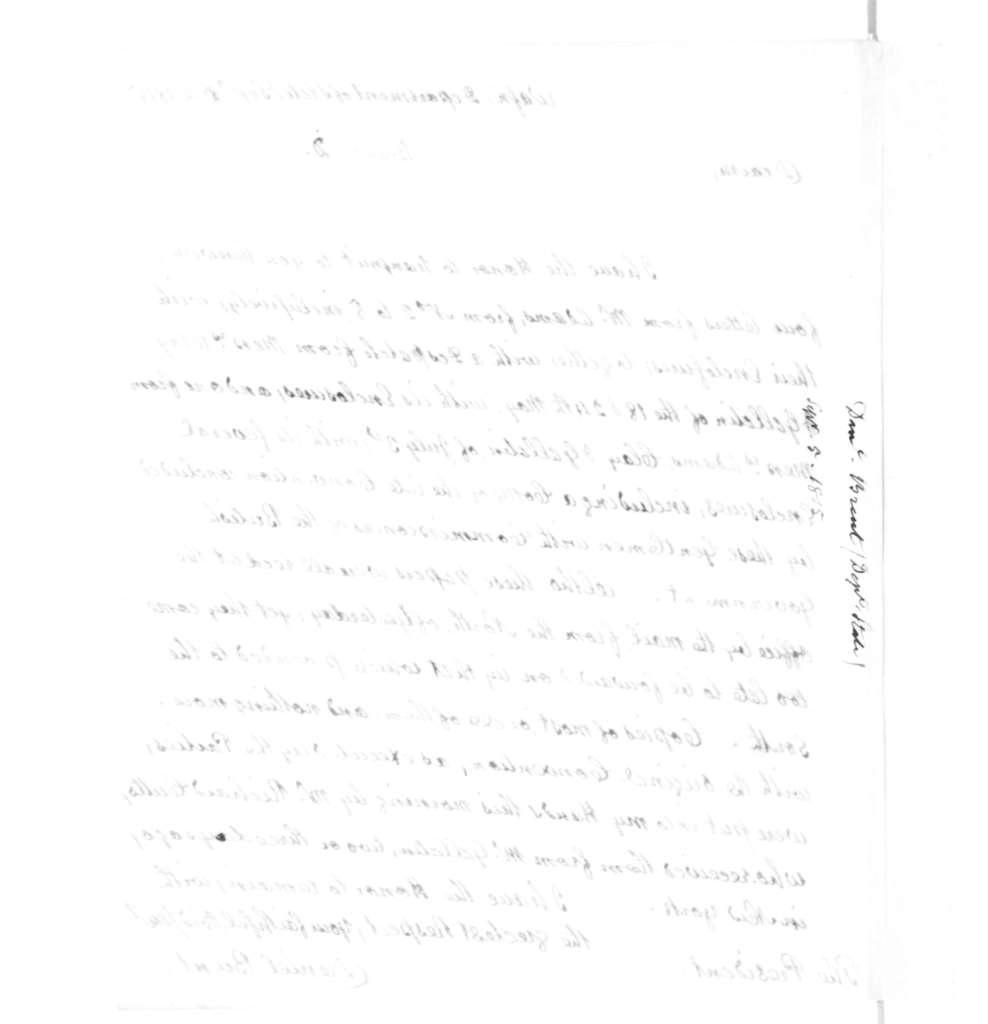 Daniel Brent to James Madison, September 6, 1815.