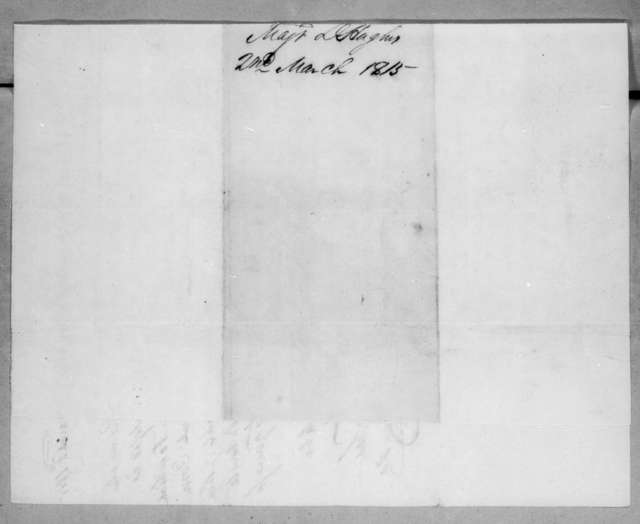 Daniel Hughes to Andrew Jackson, March 2, 1815
