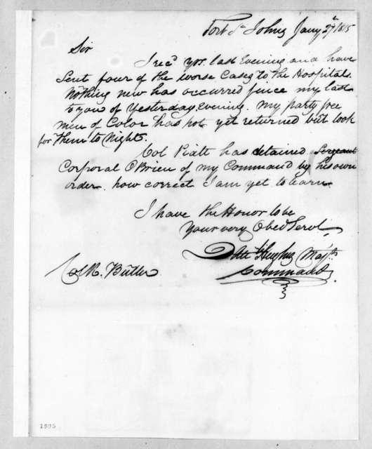 Daniel Hughes to Robert Butler, January 27, 1815