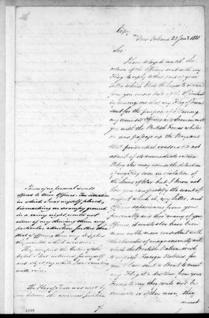 Daniel Todd Patterson to Alexander Cochrane, January 23, 1815