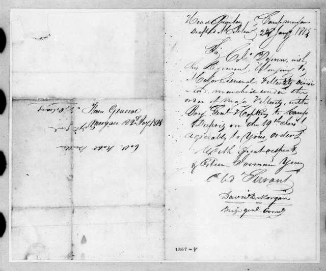 David Bannister Morgan to Robert Butler, January 22, 1815