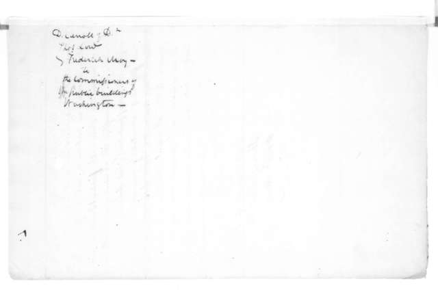 David Carroll to John P. Van Ness, May, 1815. To the Commissioners of the Public Buildings, Washington DC.